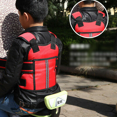 Baby Motorcycle Kids Harness Protection Buckle Reflective Strap Belt Safety Seat