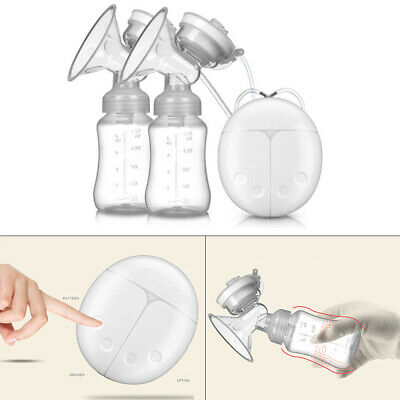 Double Electric Hand Free Breast Pump With Milk Bottle Infant Feeding Bottle HOT