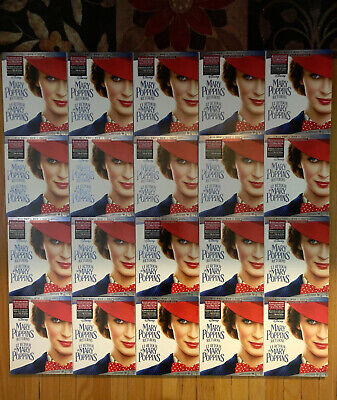 Mary Poppins Returns (2-Disc Blu-ray/DVD+Slipcover,2019)Wholesale Lot, 20 Copies