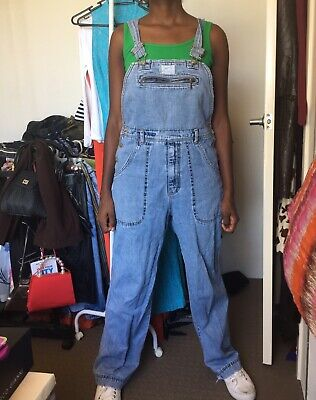 Vintage 90s Dungaree blue denim for both male and female