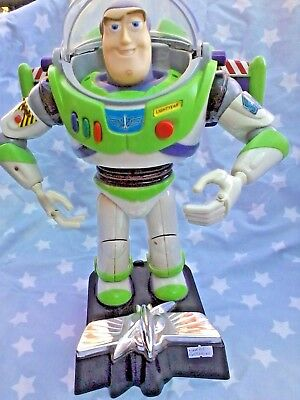 DISNEY PIXAR TOY STORY BUZZ LIGHTYEAR ROOM DOOR GUARD -  TALKS 30 CM #eBayMarket