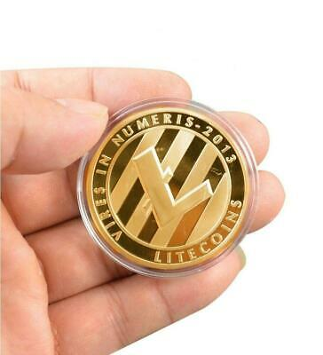 LITECOIN GOLD Badge - cryptocurrency coin pin brooch - pinch clasp attach z7qq
