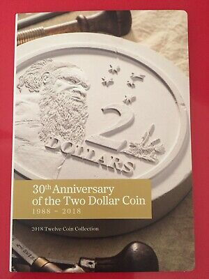 2018 30TH ANNIVERSARY OF THE $2 DOLLAR COIN FOLDER SET OF 9 COINS UNC Missing 3