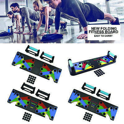 Body Building Push Up Rack Board System Fitness Train Exercise Pushup Stands Set