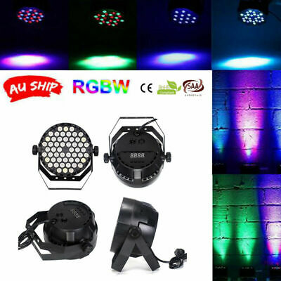 54 LED Flat Par Lights RGB Lamp Club DJ Party Stage Dmx512 KTV Party With RC