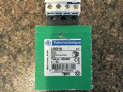 Schneider Telemecanique  LRD16  9-13A  TeSys 034682 thermal overload relay