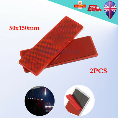 Rectangular Self Adhesive Red Reflector Trailer Caravan Truck Rear Warning Tape