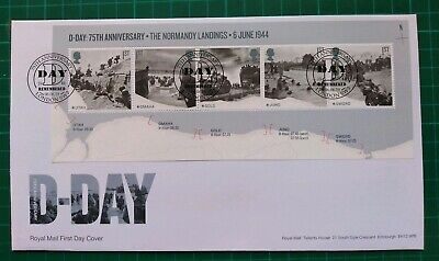 2019 75th Anniversary D-Day Miniature Sheet on FDC Remembered London SW3 pmk