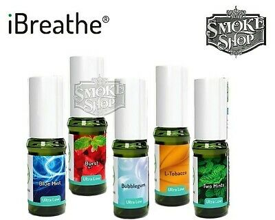 iBreathe E Liquid Tobacco Fruit Beverage Cocktail Range 10 ML ULTRA LOW 6 MG