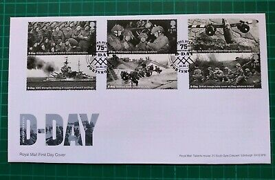 2019 75th Anniversary D-Day ALL Set of 6 on FDC Overlord Portsmouth pmk