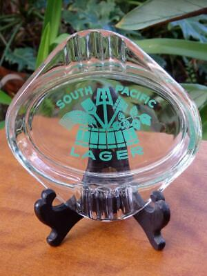 60s VINTAGE Glass Ashtray SOUTH PACIFIC LAGER from PNG Beer Advertising MAN CAVE