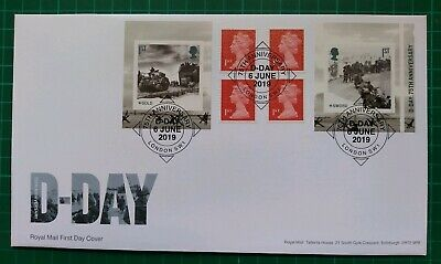 2019 75th Anniversary D-Day Retail Booklet FDC 75th Anniv London SW1 postmark