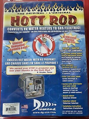 NEW Hott Rod RV Camper 6 or 10 gal Universal Water Heater Converter Gas Electric