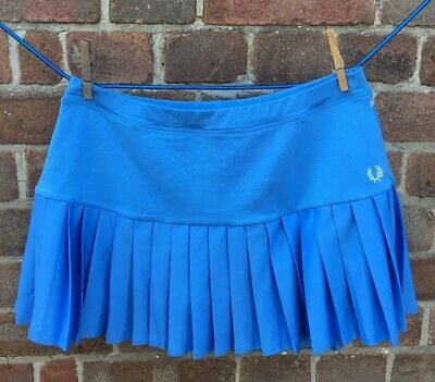Fred Perry Pleated Blue Tennis Skort Size 10