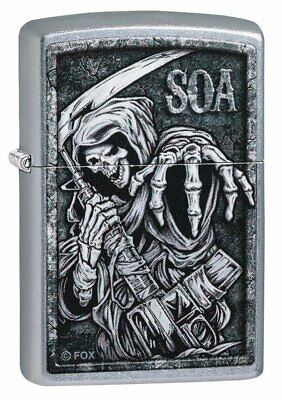 Zippo Sons of Anarchy Grim Reaper, Street Chrome, Windproof Lighter #49004