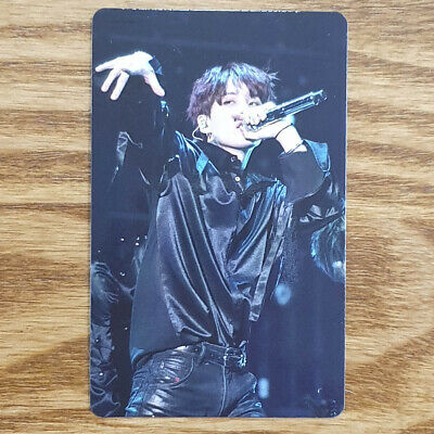 Suga Official Photocard BTS Love Yourself World Tour Europe Blu-ray Genuine