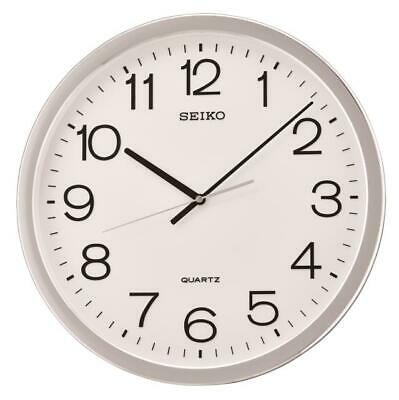 """New Seiko 15.7""""  Round  Wall Clock With Quiet Sweep Second Hand Qxa041Slh"""