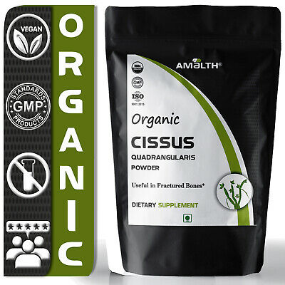 Amalth Organic Cissus Quadrangularis Powder Bone strengthening Osteoporosis Pure