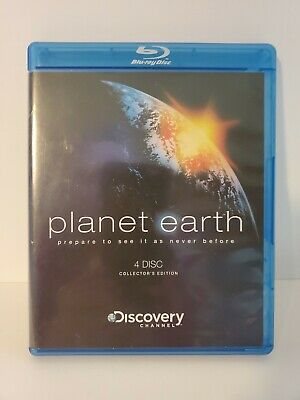 Planet Earth Blu-ray 4 disc Sigourney Weaver Discovery Channel  Collecors Edt.