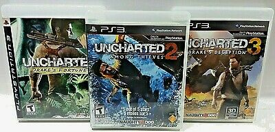 UNCHARTED 1 2 3 LOT Fortune Deception Thieves Sony PlayStation 3 PS3 VIDEO GAME