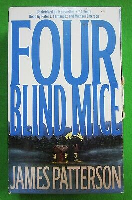 Four Blind Mice By James Patterson -Alex Cross- Audiobook On 5 Cassettes - Unabr
