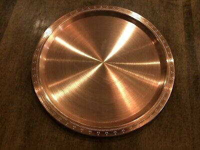 "New Solid Etched Copper 14"" Large Round Serving Tray Platter - Nordstrom"