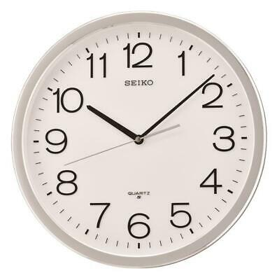 """New Seiko 14.1""""  Round  Wall Clock With Quiet Sweep Second Hand Qxa020Slh"""