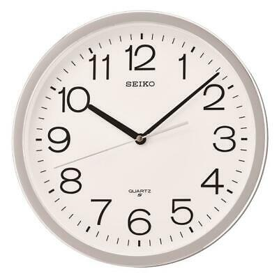 """New Seiko 12.2""""  Round  Wall Clock With Quiet Sweep Second Hand Qxa014Slh"""