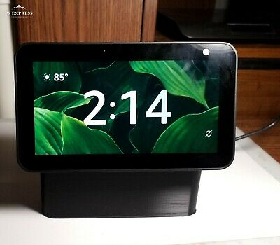 Amazon echo show 5 STAND (tilted 7 Degrees) 3D printed (Black)