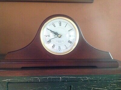 Wooden Westminster Chime Quartz Mantle Clock 17X8 Pre-Owned Works Well w/Battery