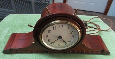 Very Nice Seth Thomas Vintage Ships Wheel Electric Clock