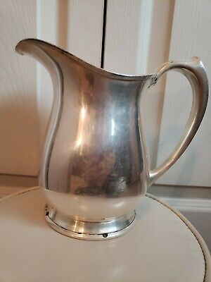 Antique Barbour Silver Co. Internationals Co. Silver Plated Pitcher Caraf #5179