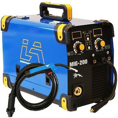 200Amp Mig/Mag/Flux Cored Wire/Mma 4 In 1 Dc Inverter Welder Machine Gas Gasless