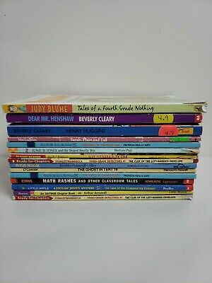 Lot 15 chapter books  Children's Youth Early Readers Homeschool Teacher b2