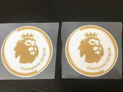 2019/2020 Pair Manchester City Premier League Champion Shirt Sleeve Patch Badge