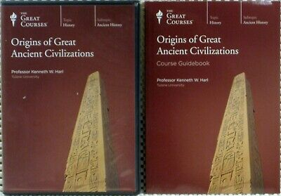 o'o'o . ORIGINS of GREAT ANCIENT CIVILIZATIONS Great Courses Teaching 2 DVDs+BK