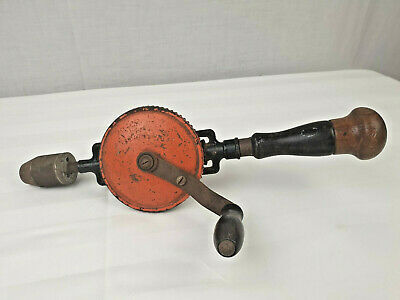 Vintage Stanley No. 624 Double Pinion Hand Drill Made in USA Collectable Mancave