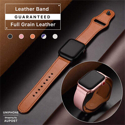 【Genuine Leather】Apple Watch Band Strap for iWatch Series 4 3 2 1 38 42 40 44mm