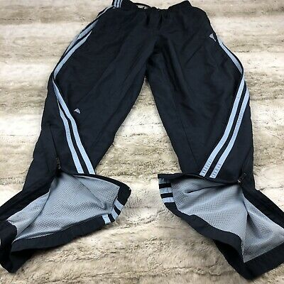Adidas Athletic Pants Boys Youth sz Large L 14/16 Navy mesh lined