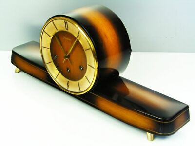 Beautiful Art Deco Westminster Chiming Mantel Clock From  Hermle  Germany