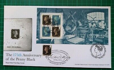 2015 The 175th anniv of the Penny black M/S FDC Doubled 2019 Queen Victoria BCT
