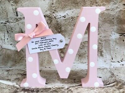 Personalised Handmade  Letter Christening Gifts baby/ Birthday Boy/girl Newborn