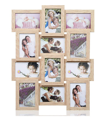 Home Decoration Multi Aperture Photo Wooden Wall-Mounted Collage Picture Frame