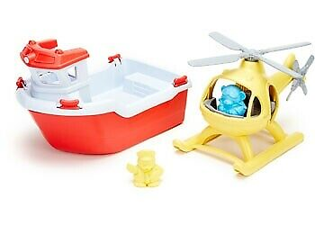 Green Toys - Rescue Boat and Helicopter GY052