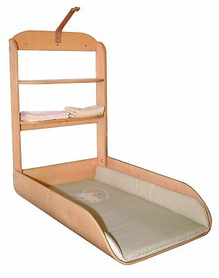 Wall Wrap Rack Folding Safe Changing Cabinet Wood Curved Table Bebe Lovely Bear
