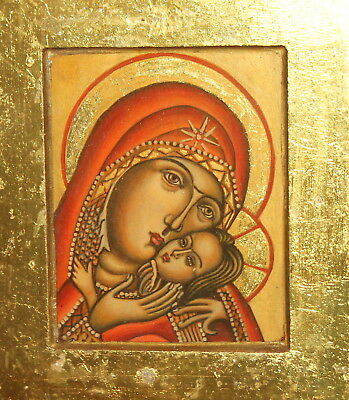 Virgin Mary And Jesus Christ Child Hand Painted Orthodox Icon
