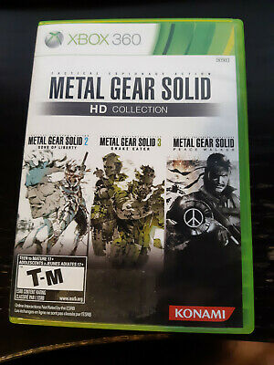 Metal Gear Solid HD Collection (Microsoft Xbox 360, 2011) Game + manual + case