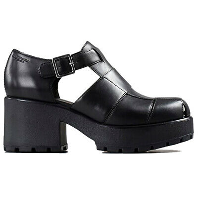 a3fb33ad5f6ff Ladies Vagabond Dioon Summer Casual Holiday Black Leather Work Shoes All  Sizes