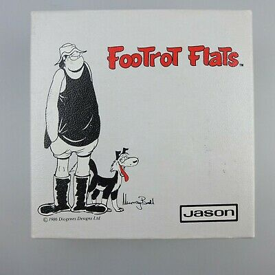 VINTAGE 1980s FOOTROT FLATS RUBGY THEMED COASTERS BY JASON