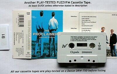 The Proclaimers SUNSHINE ON LEITH UK CASSETTE ALBUM/TESTED ZCHR 1668 Chrome